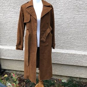 Gap Vegan Suede Chocolate trench